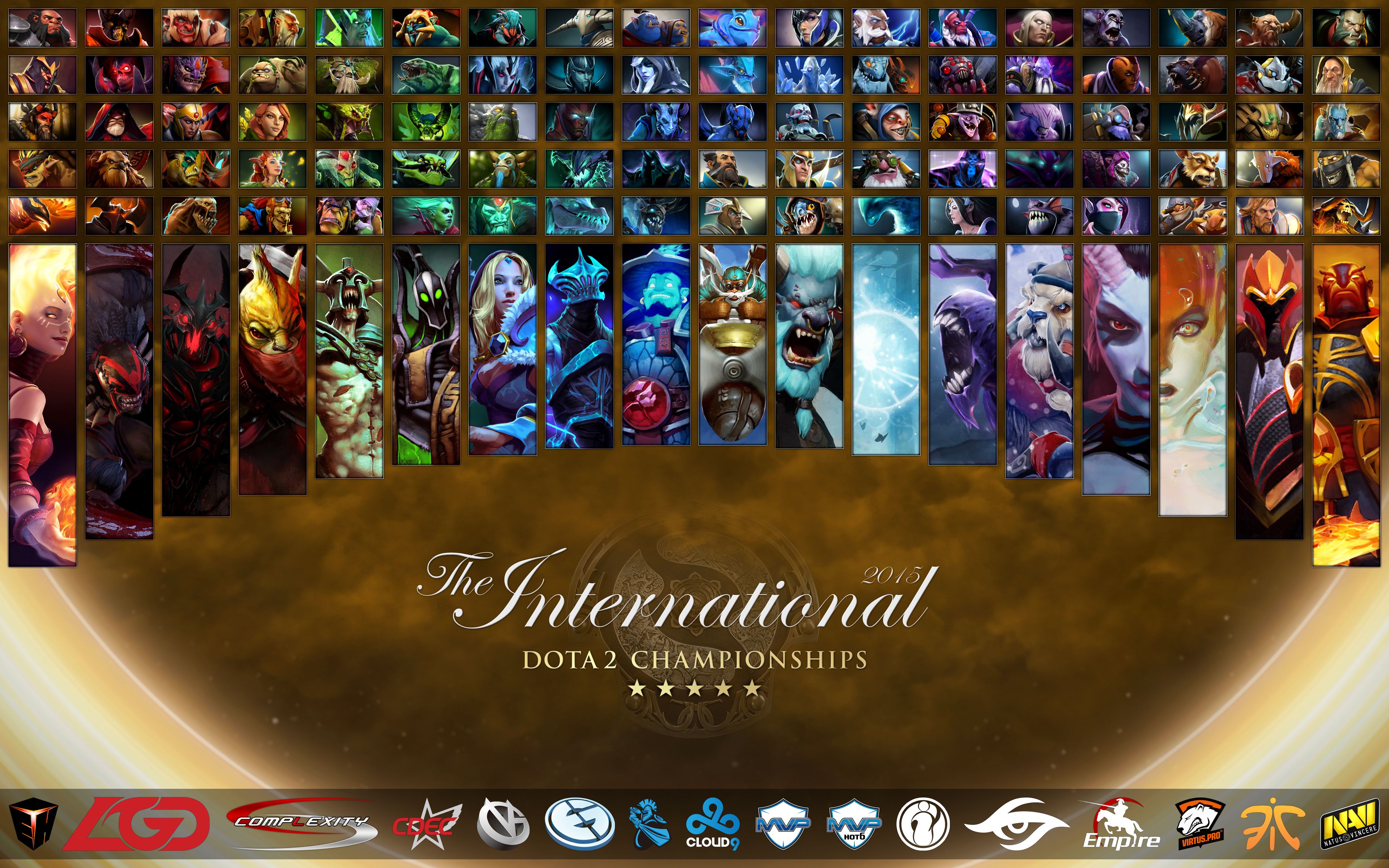heroes of the international 2015 all heroes wallpaper ti5 edition